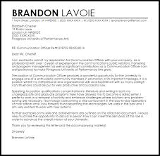 Communications Specialist Cover Letter Pr Cover Letter Template Communications Cover Letter Best