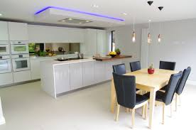 White Gloss Kitchen White Gloss Kitchen With Innovative Lighting Ptc Kitchens