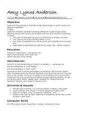 High School Resumes College For Seniors Template Templates Free