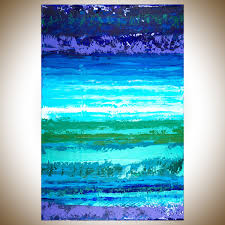 in the air by qiqigallery 24 x 36 abstract painting original artwork painting on canvas wall art wall decor home decor wall hanging blue green purple