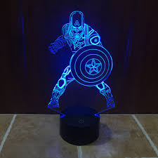 cool lighting. cool marvel civil war captain america light colorful gradient 3d illusion building lamp with touch button lighting