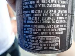monster energy can warning. Perfect Monster On Each Can Of Monster Is A Warning  And Energy Can Warning Whim Online Magazine