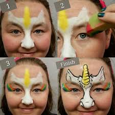 face painting i like the general idea of this would try a full eyelid rainbow and maybe add a sprinkle of stars or small flower cers cute
