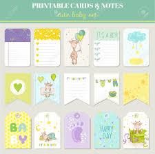 Baby Boy Card Set With Cute Giraffe For Birthday Baby Shower
