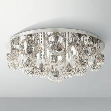 a contemporary ceiling light with k9 crystal