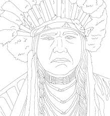 Native American Coloring Pages Free Camelliacottageinfo