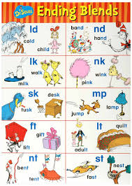 Ending Blends Chart Ending Blends Chart Included In The Dr Seuss Phonics