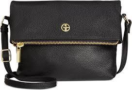black leather cross bags giani bernini pebble leather zipper mini flap cross only at macys