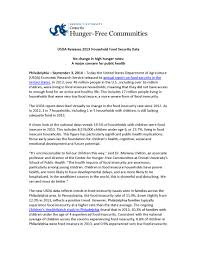 press releases the center for hunger communities press releases