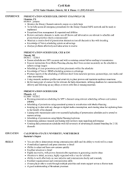 Scheduler Resume Sample Presentation Scheduler Resume Samples Velvet Jobs 10