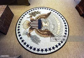 oval office carpet eagle. the newly redecorated oval office of white house with new carpet couches and wallpaper is eagle