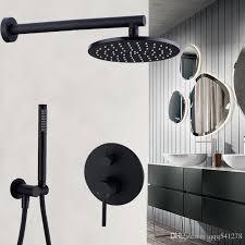 brass black bath faucets 8 12 rain shower head bathroom shower set diverter mixer valve shower system wall mounted