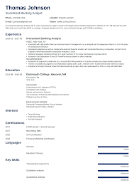 Investment Banking Resume Monzaberglauf Verbandcom