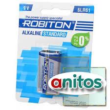 <b>Батарейка крона</b> А05 <b>ROBITON STANDARD</b> 6LR61 9V BL1 оптом ...