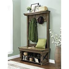 Oak Hall Tree Coat Rack Interesting Oak Hall Tree With Bench Aliciarubio