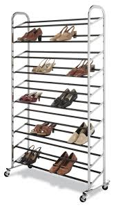 ... Modern Wooden Frame Metal Shoe Rack The Container Store Design: Best  Metal Shoe ...