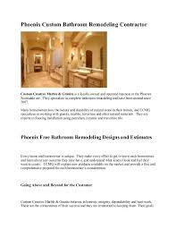 Phoenix Bathroom Remodel Creative Impressive Design Inspiration