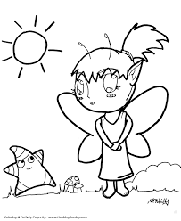 Small Picture Anime Coloring Pages Anime Fairy and Star Coloring Page sheet