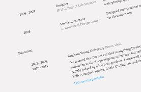 Professional Professional Resume Font