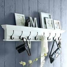 Wall Mounted Coat Rack Plans Awesome Mounted Coat Rack Wall With Shelf White Storage Hanging Plans