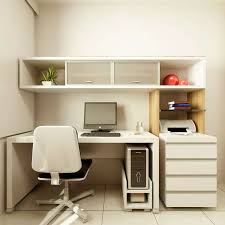 home office small office desks great. Decorations : Small Modern Home Office Design Ideas With Rectangle White Computer Desk And Laminated Wood Wall Shelves Also Desks Great A