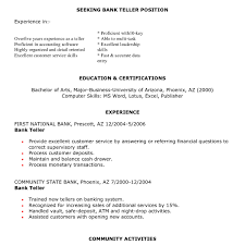 Bank Teller Resume Sample Best Of Data Entry Job Resume Samples New