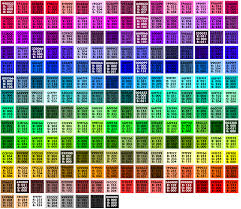 R Color Chart Non Dithering Colors By Hue
