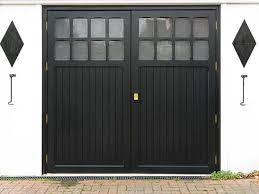 hinged garage doors brass