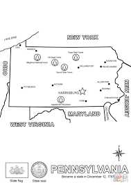 Small Picture Map of Pennsylvania coloring page Free Printable Coloring Pages