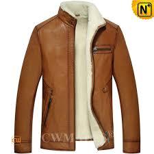 mens leather shearling jacket cw857070 cwmalls com