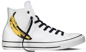 converse white. converse chuck taylor all star warhol banana print white/black/freesia white