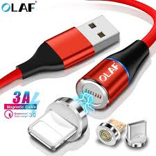 <b>OLAF 3A</b> Quick charge 3.0 USB Magnetic Cable <b>Micro USB</b> Type C ...
