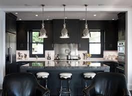 image of black kitchen cabinets design