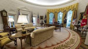 west wing oval office. The Newly Renovated-Oval Office Of White House In Washington. West Wing Oval