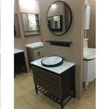 modern bathroom furniture. 80cm Bathroom Vanity Cabinet With Counter Top And Above In Basin Metal Shelf Legs Modern Furniture