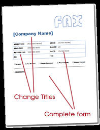 free fax cover page template cover letter for faxes