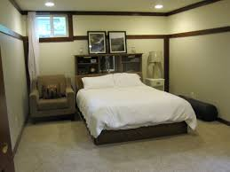 Bedroom:Breathtaking Small Basement Bedroom Design With White Bed Sheet And  Wooden Headbaord Storage Ideas