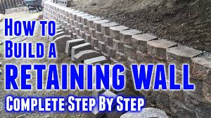 how to build a retaining wall step by step