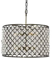 cassiel crystal drum chandelier black contemporary pendant throughout drum chandelier with crystals prepare