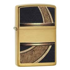<b>Зажигалка ZIPPO Gold</b> & Black, латунь с покрытием Brushed ...