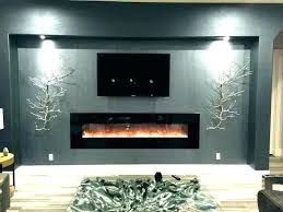 55 built in led wall mount electric fireplace insert firefly mounted heater hung modern surrounds g