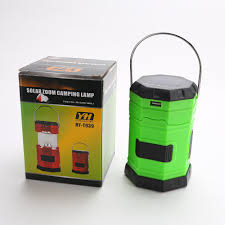 Green Portable Solar Zoom Camping Lamp Outdoor Living Tent Led