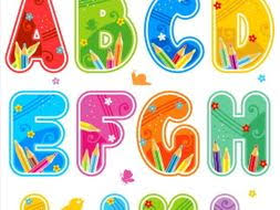 Letters In Design Decorated Letters A L With Design Elements
