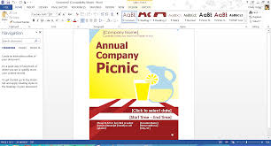 Company Picnic Template Free Summer Themed Templates From Microsoft