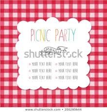 Picnic Template Menu Template Picnic Party Stock Vector Royalty Free 200280644