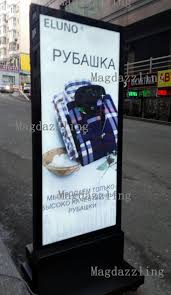 Led Light Box Display Stand 100x100CM Restaurant Outdoor Stand Double Sided LED Display Board 97
