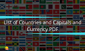 Countries Capital Currency And Languages Bankexamstoday