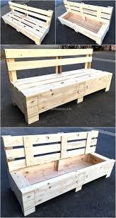 pinterest pallet furniture. Wooden Pallet Bench With Storage Plan Pinterest Furniture