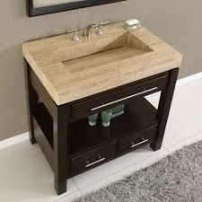 stylish modular wooden bathroom vanity. Amazon.com: Silkroad Exclusive Dark Walnut Stone Top Single Sink Bathroom Vanity With Cabinet, 36-Inch: Home \u0026 Kitchen Stylish Modular Wooden L