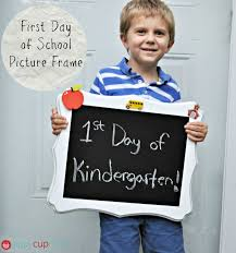 7 31 first day of school picture frame